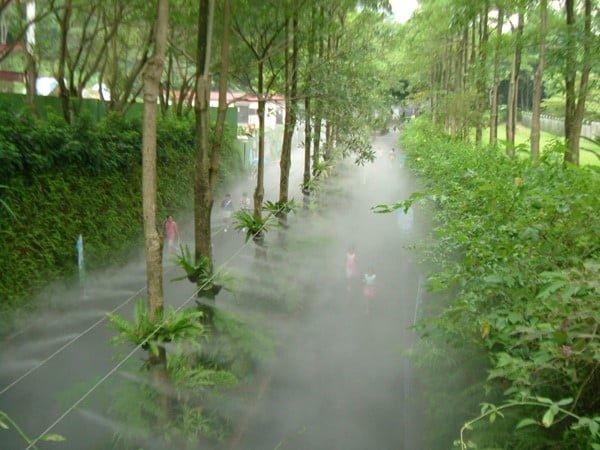 Lắp đặt hệ thống phun sương làm mát tạo ẩm