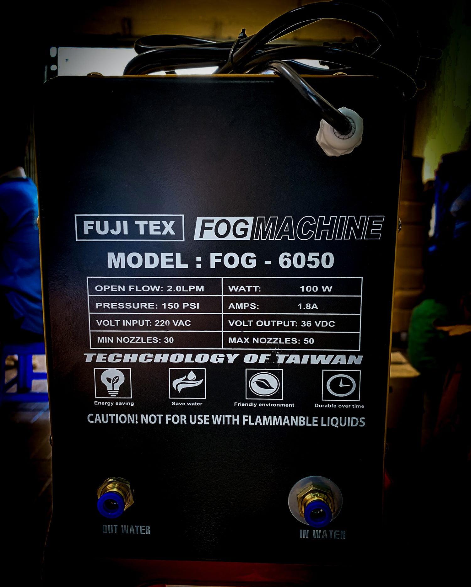 COMBO bộ máy phun sương FOG 6050 - (45 BÉC PHUN)