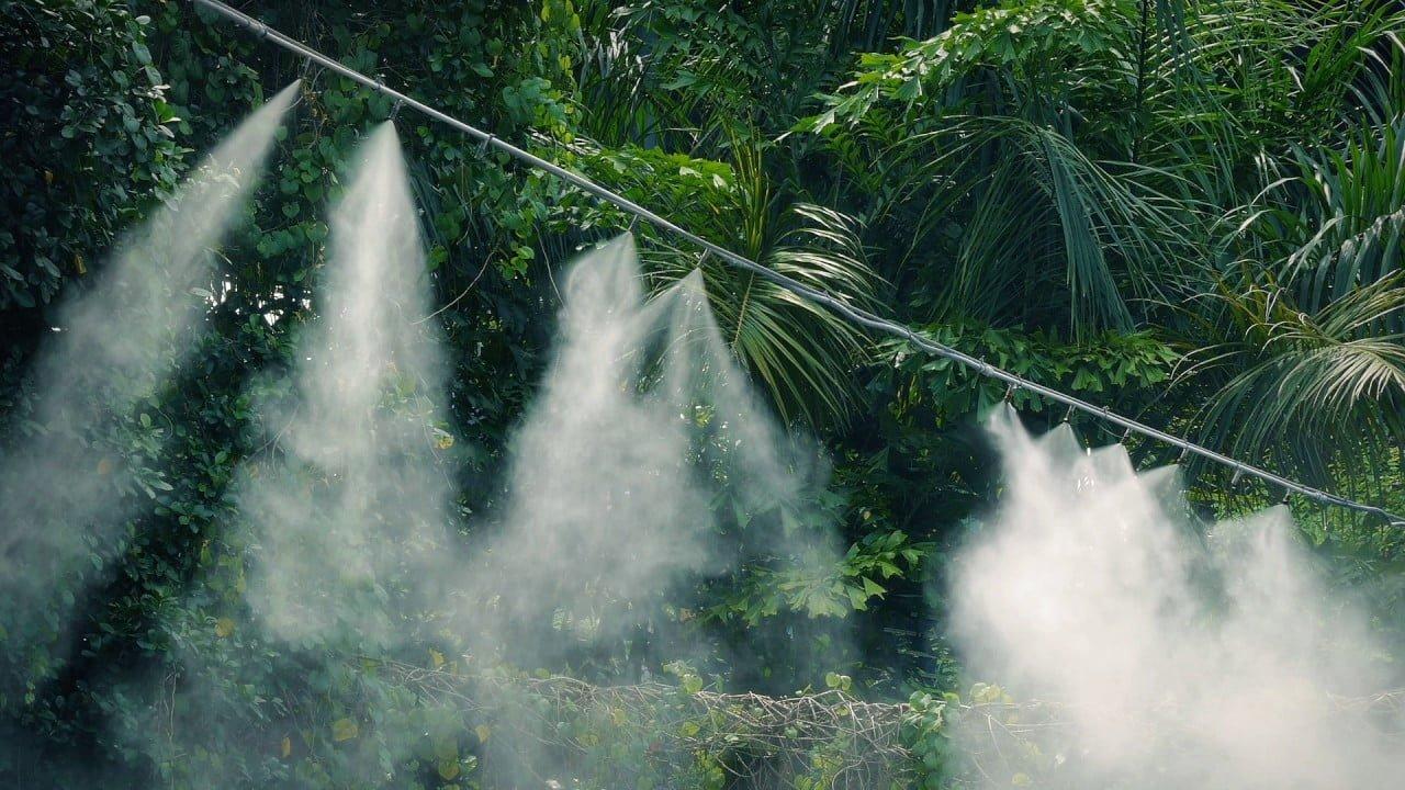 Hệ thống phun nước làm mát mái tôn tại Cần Thơ