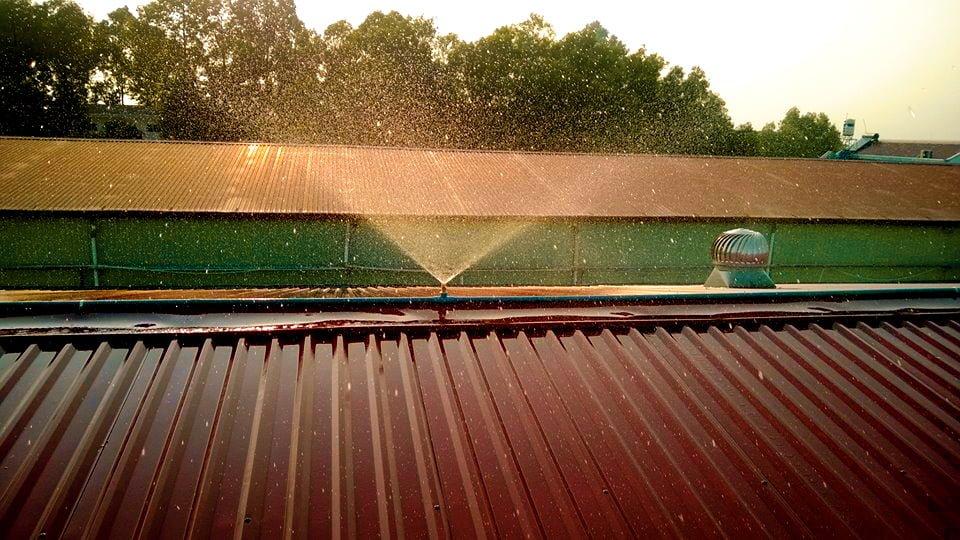 Hệ thống phun nước mái tôn nhà xưởng
